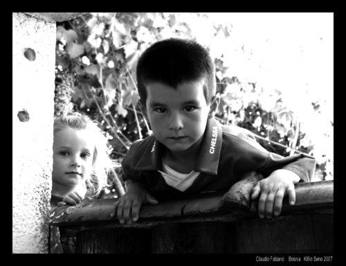bambini a Kifino Selo